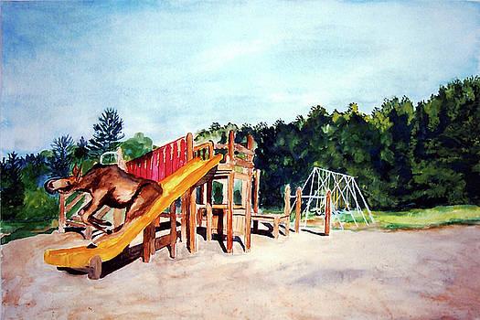 Stella Sherman - Mildred Goes Down the Slide