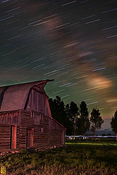 Milk Trails Over The Moulton Barn by Mike Berenson