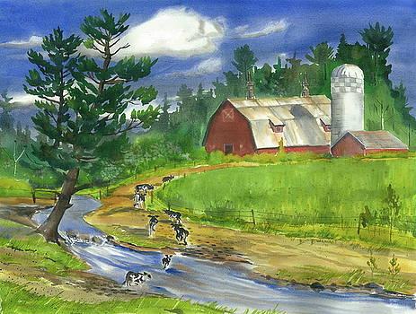 Milking Time by Bud Bullivant