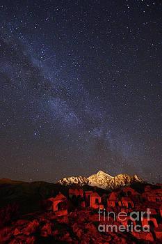 James Brunker - Milky Way Above Mt Huayna Potosi and Milluni Cemetery Bolivia