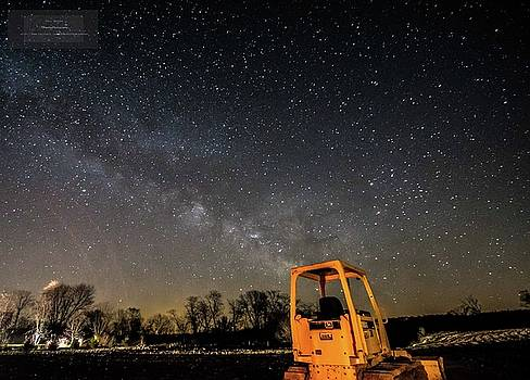 Milky Way and Bulldozer by Paul Brooks