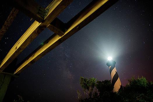 Milky Way inside Hatteras Light Pavillon by Daniel Lowe