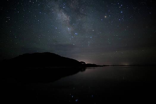 Milky Way over Pamlico Sound by Daniel Lowe
