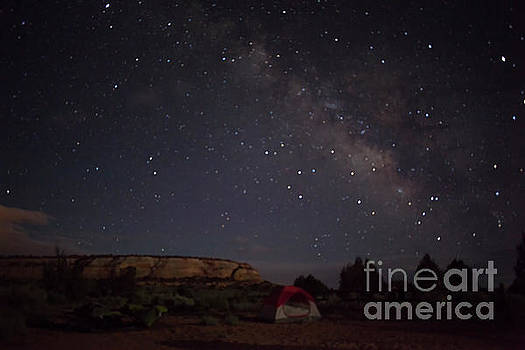 Milky Way Over White Pocket Campground by Anne Rodkin