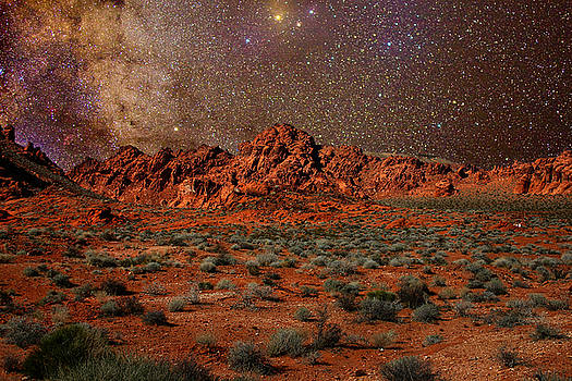 Milky Way Rising over the Valley of Fire by Charles Warren