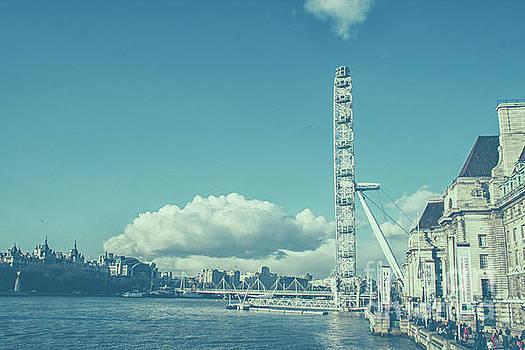 Millenium wheel in London by Patricia Hofmeester