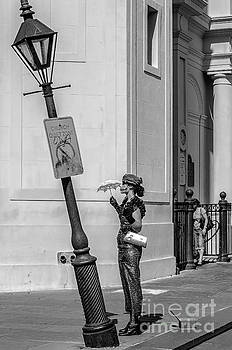 Kathleen K Parker - Mime and Her Lamppost - NOLA