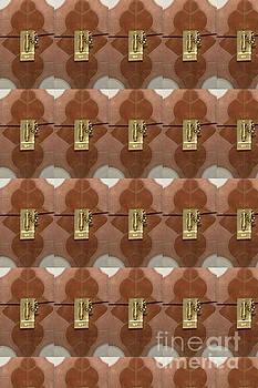 Miniature metal lock on women's fashion bags tshirts pillows curtains tote bags christmas holidays  by Navin Joshi