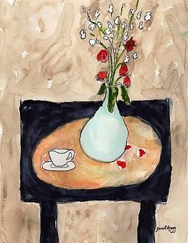 Miniature Rose Still Life by Janel Bragg