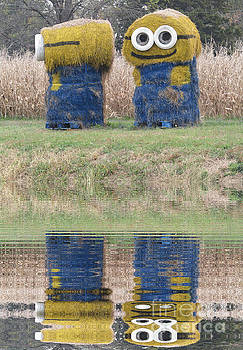 Minions in a Reflection Pool by Kelly Awad