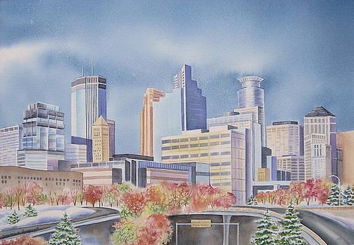 Minneapolis Skyline by Deborah Ronglien