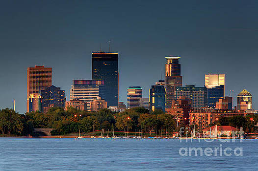 Minneapolis Skyline Photography Lake Calhoun Summer Evening by Wayne Moran