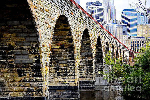 Minneapolis Stone Arch Bridge Old and New by Wayne Moran