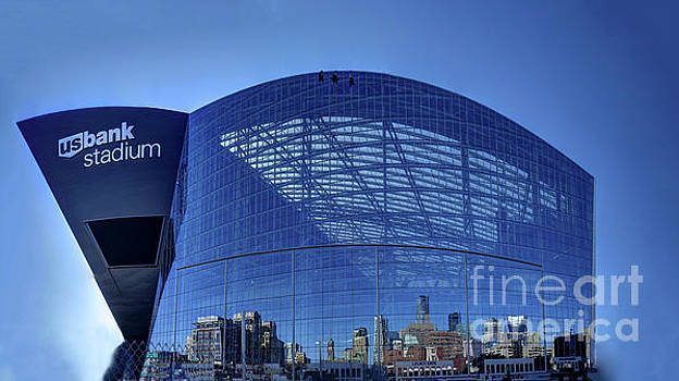Minneapolis Us Bank Stadium MN Vikings by Wayne Moran