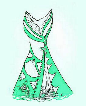 Mint Green Dress by Mary Russell