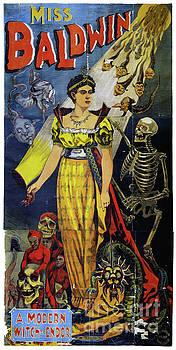 Miss Baldwin Vintage Poster by Carsten Reisinger
