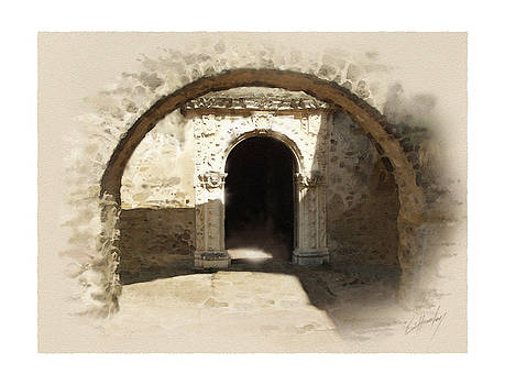 Mission San Jose Back Door by Cliff Hawley