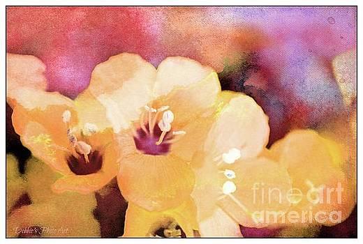 Missouri Wildflowers 5  - Polemonium reptans -  Digital Paint 6 by Debbie Portwood