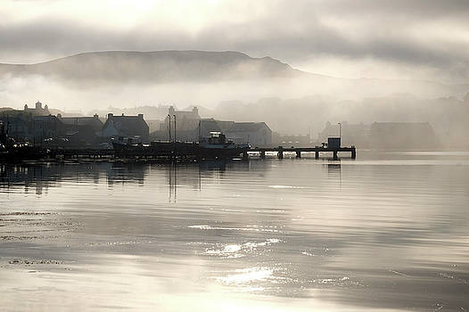 Mist Over The Village 1 by Anne Macdonald