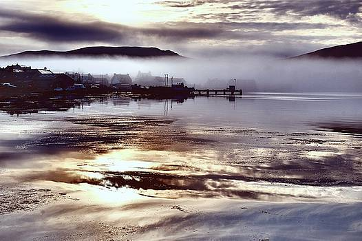 Mist Over The Village 2 by Anne Macdonald
