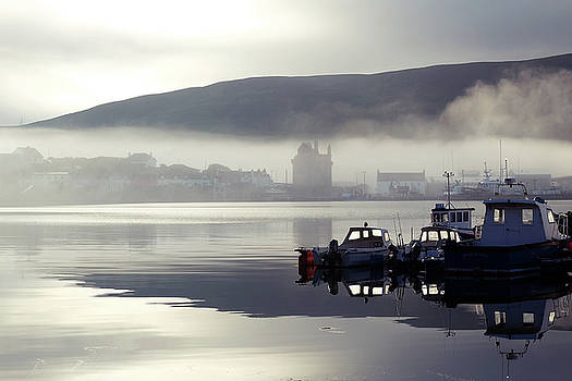 Mist Over The Village 3 by Anne Macdonald