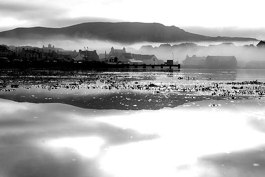 Mist Over The Village 4 by Anne Macdonald