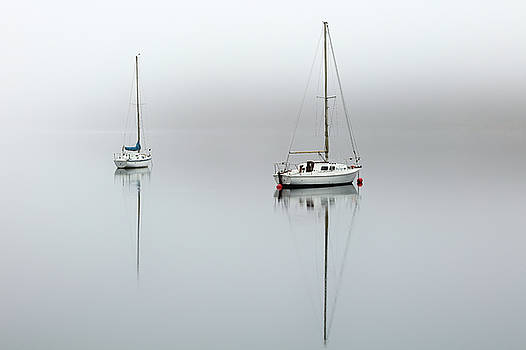 Misty Boats by Grant Glendinning