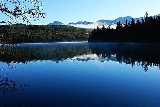Larry Ricker - Misty Morning on Pyramid Lake