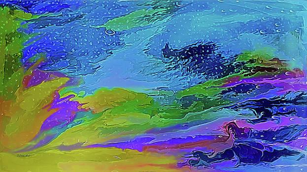 Misty Sierra Abstract by OLenaArt Lena Owens