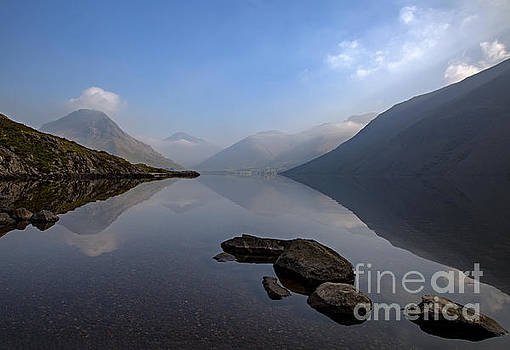 Misty Wast Water by Roger Green