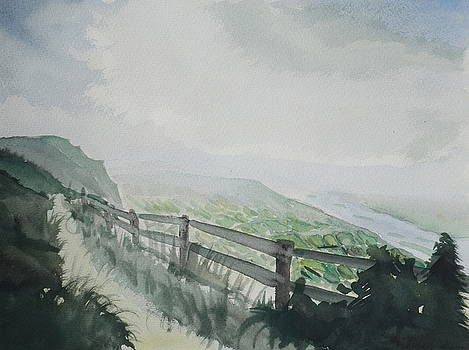 Misty Ways with Green Valley by M Bleichner