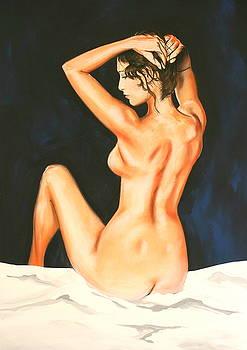 Mixed Media  Nude by Steve Jones