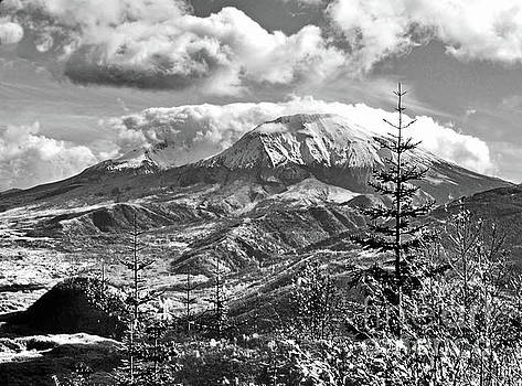 mMt. St.Helens Autumn in Black and White by Ansel Price