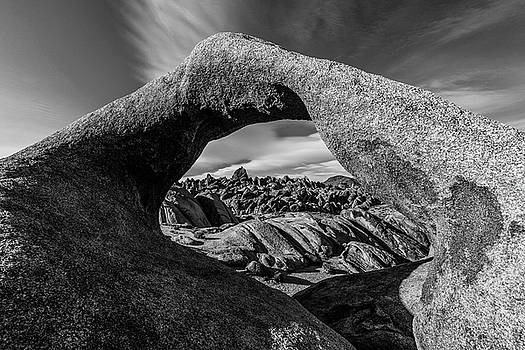 Mobius Arch Afternoon BW by James Marvin Phelps