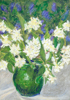 Mock Orange and Ceanothus by Judy Adamson