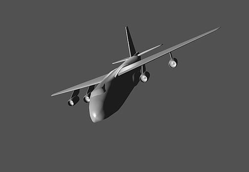Model aircraft in 3D. by Alexandr  Malyshev