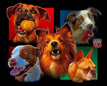 Modern Dog Art - 0001 by James Ahn
