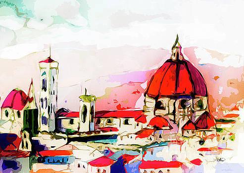 Ginette Callaway - Modern Florence Mixed Media Art