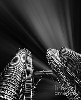 Modern skyscraper black and white picture by Stefano Senise