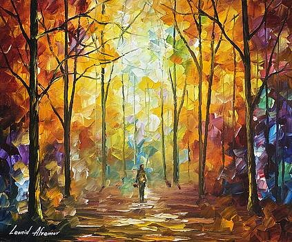 Moment Of Realization - PALETTE KNIFE Oil Painting On Canvas By Leonid Afremov by Leonid Afremov