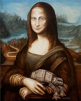 Mona Lisa what you smiling AT AT by Al  Molina