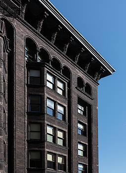 Steve Gadomski - Monadnock Building Cornice Chicago B W