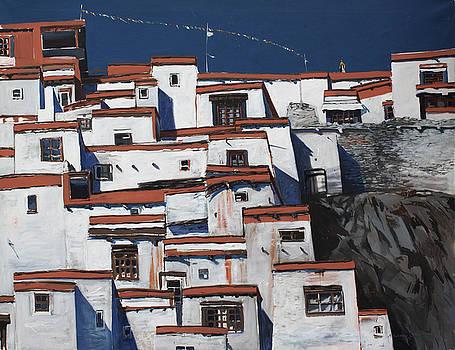 Monastery Ladakh by Andrew Crane
