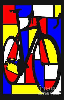 Mondrianesque Road bike by Sassan Filsoof