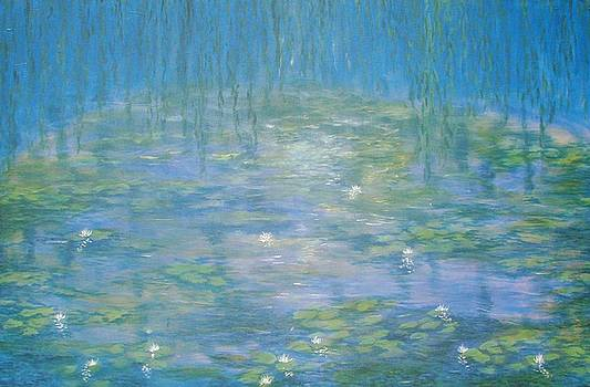 Monets Garden at Giverny  Reflections by Phyllis OShields