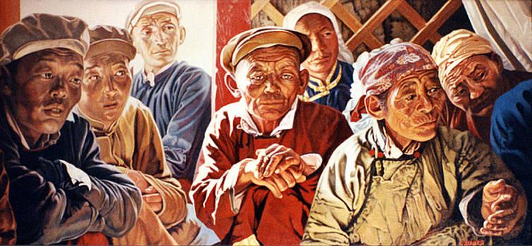 Mongolian Meeting by Chris Baker