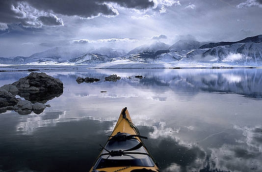Mono Lake Winter Kayak by Buck Forester