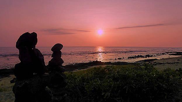 Monoliths at Sunset by Lori Seaman
