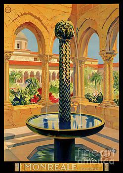 Monreale Palermo Italy Vintage Poster Restored by Carsten Reisinger