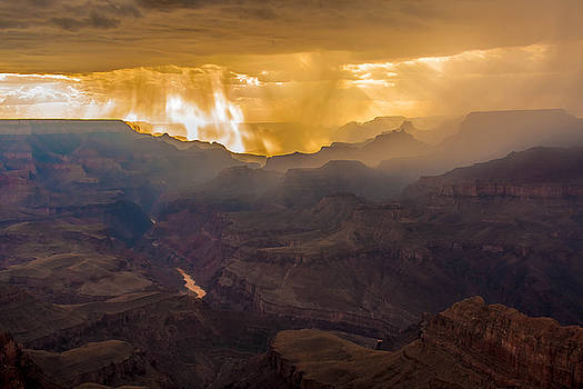 Monsoon at Grand Canyon by Kathleen McGinley